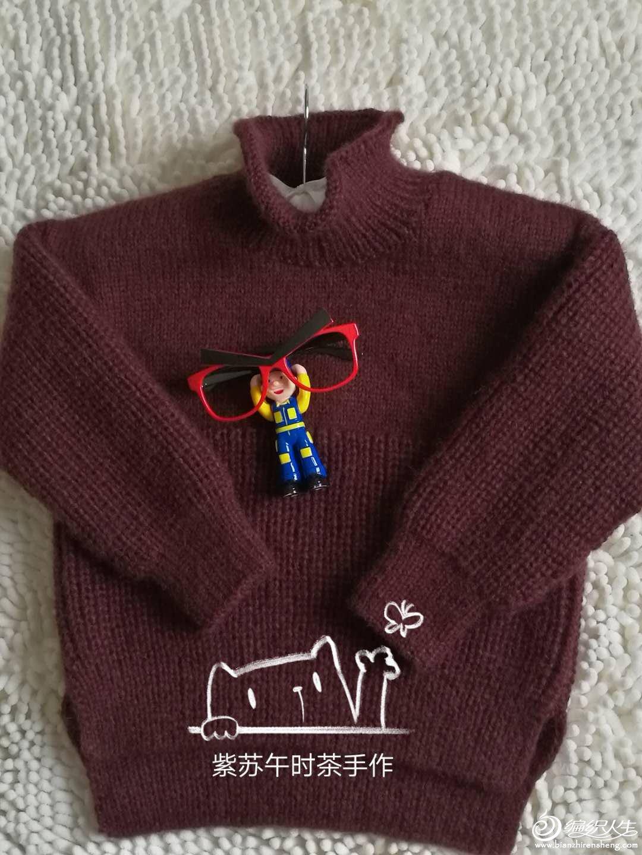 儿童棒针元宝针毛衣