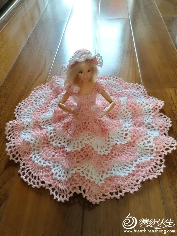 钩针芭比蕾丝公主裙