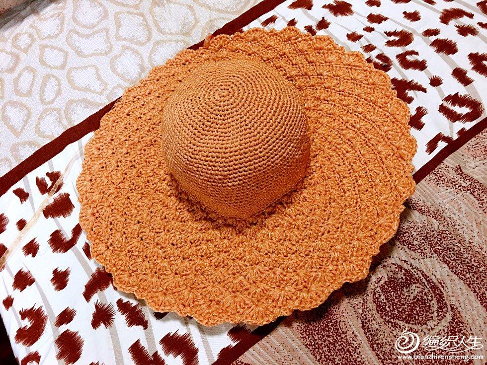 丝带钩花帽子