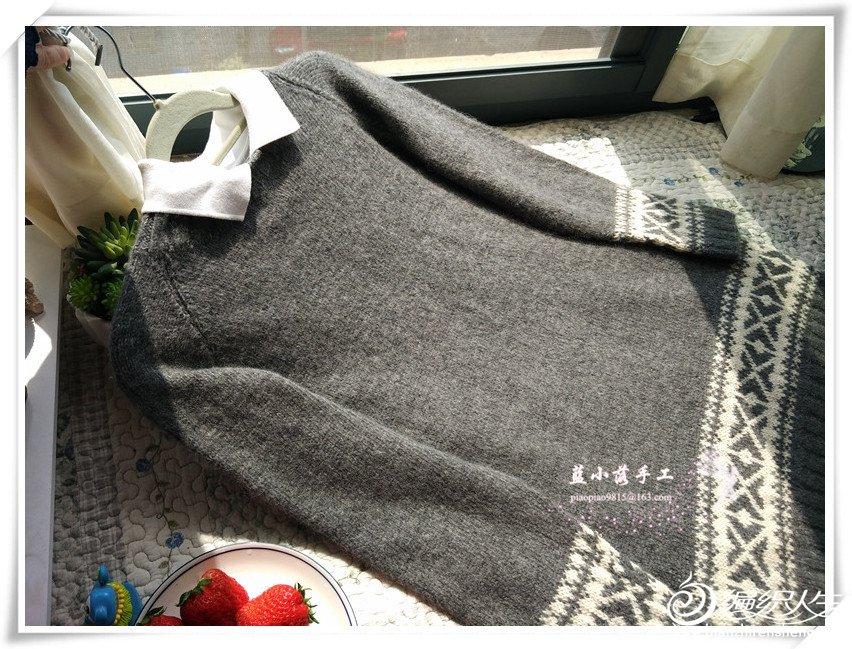 灰色男士提花毛衣