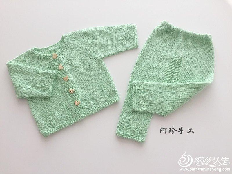 宝宝开裆裤织法