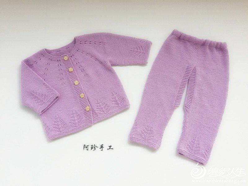 手工编织婴儿套装