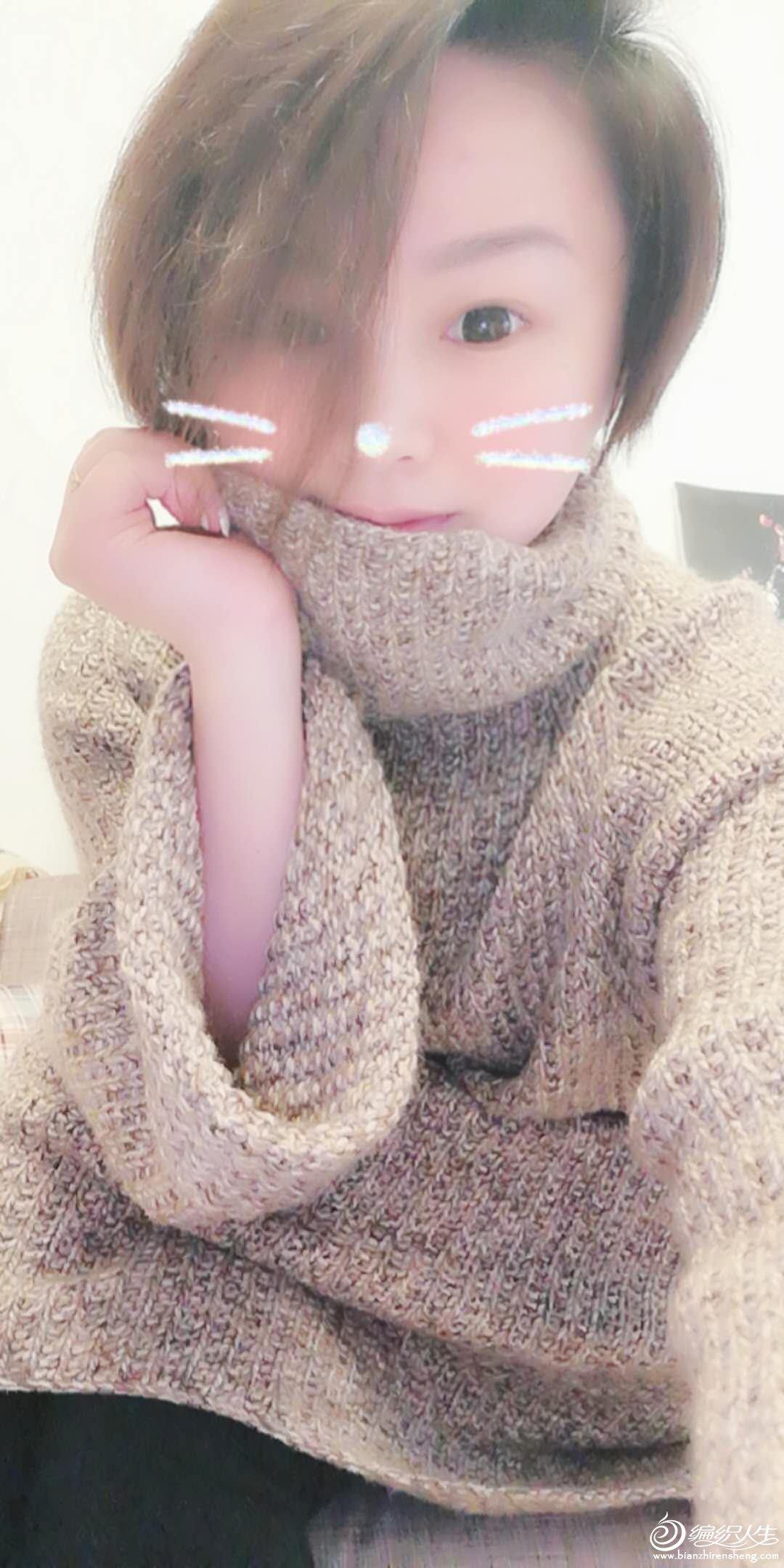 手工编织oversize慵懒风毛衣