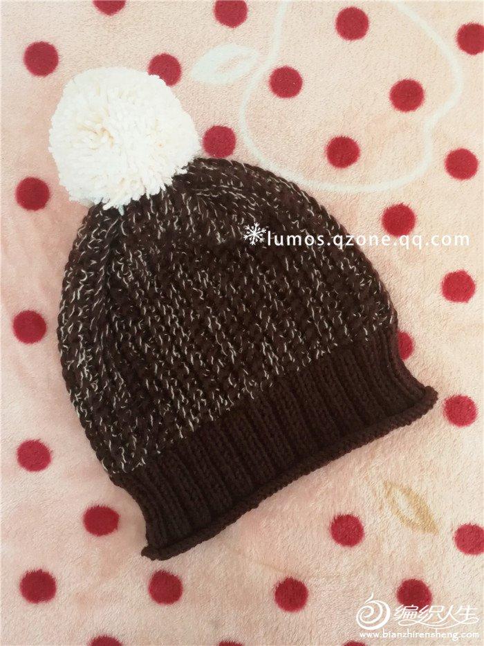 钩织结合毛线帽