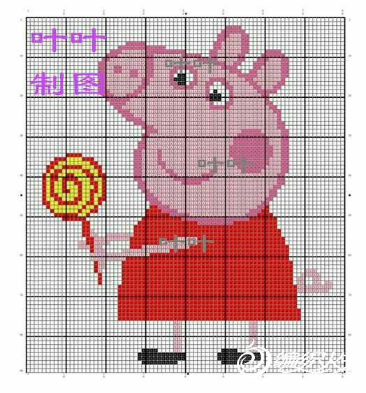 织v领毛衣视频_小猪佩琪与乔治 儿童棒针圆领卡通图案毛衣-编织教程-编织人生