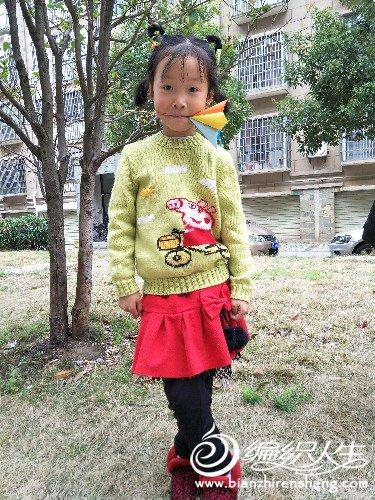 儿童棒针佩奇毛衣