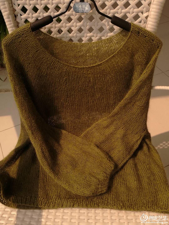 女士棒針馬海毛衣