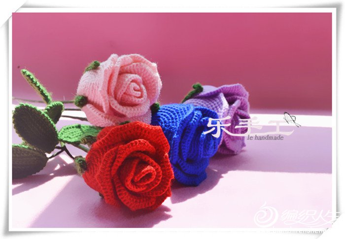 立体钩针玫瑰