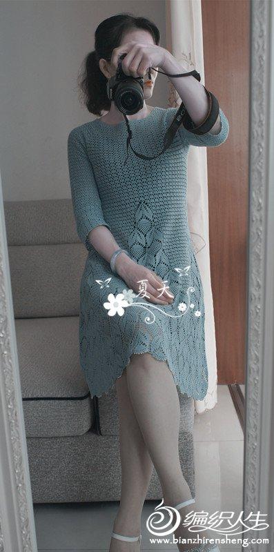 女士钩针蕾丝连衣裙