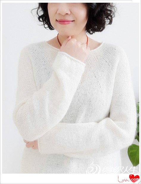 从上往下织女士马海毛衣