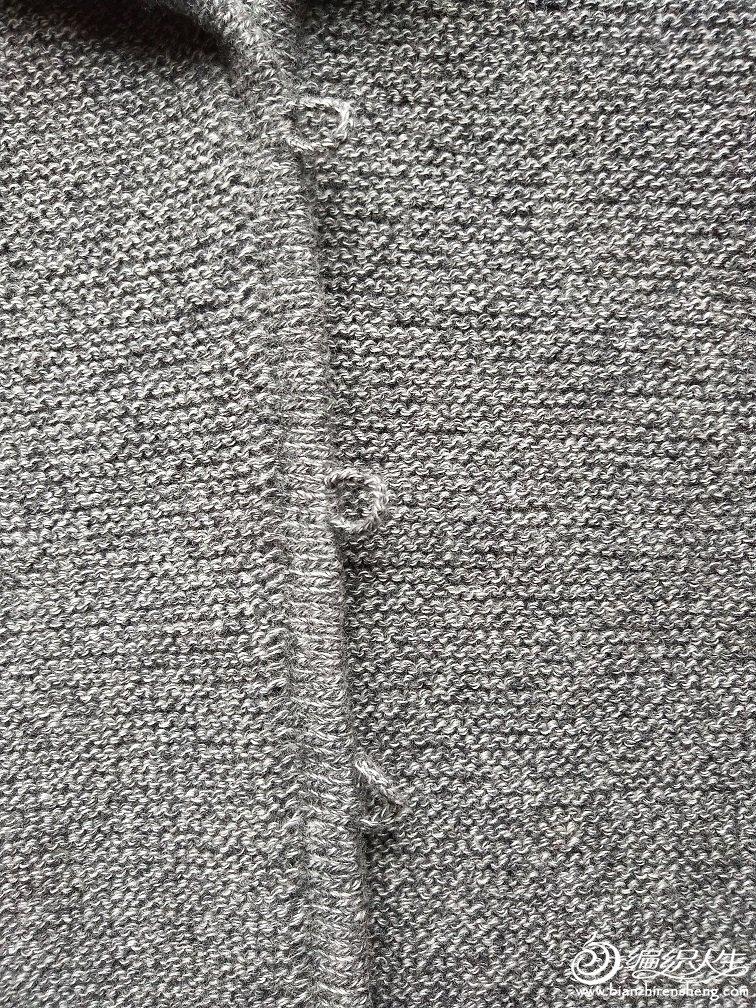 手工编织毛衣门襟织法