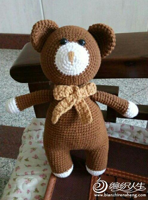 毛线编织钩针熊玩偶