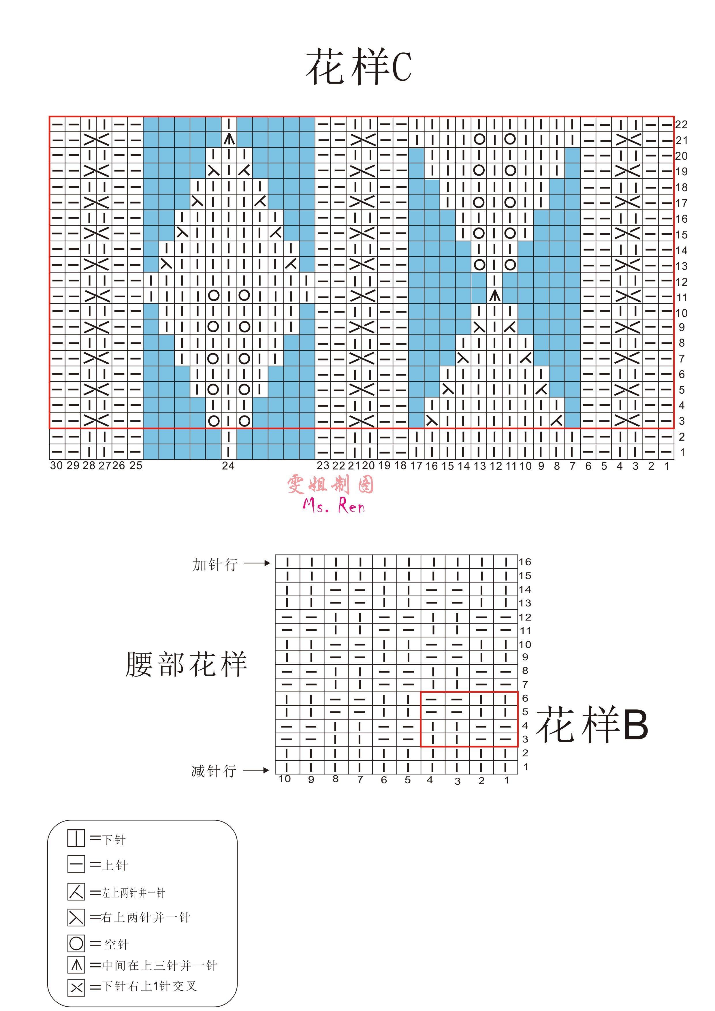 【云素花染】叶子叶子(原创)(2018-24)附图解和编织说明