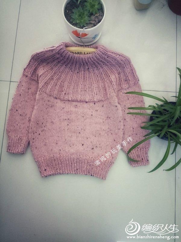 粗针织儿童棒针毛衣