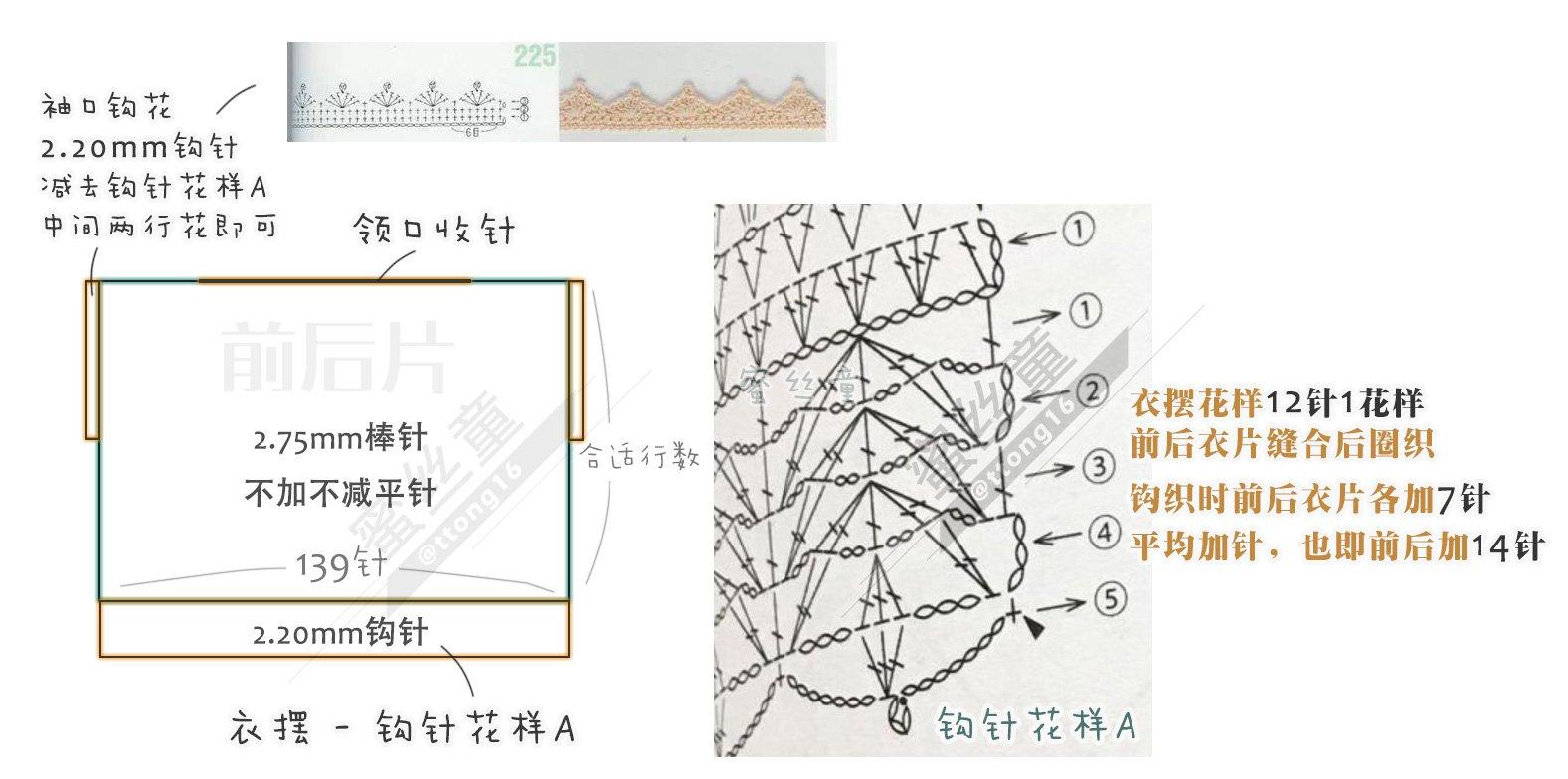 【图解】钩织结合绿色蕾丝棉宽松Tee.jpg