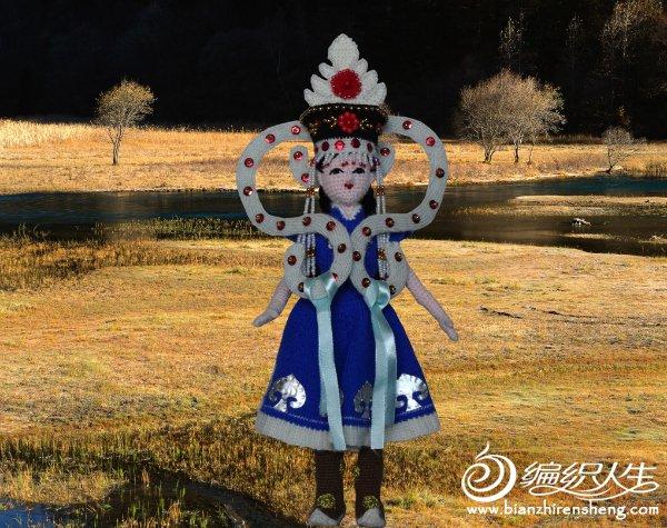 手工编织娃娃蒙古族服饰