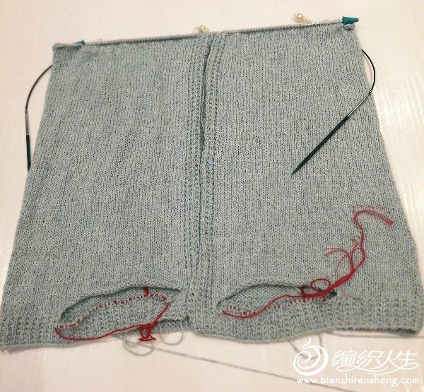 按照袖子图解挑织袖山,织了十厘米的时候感觉袖子和挂肩处链接不好看