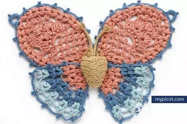 钩针蝴蝶图案