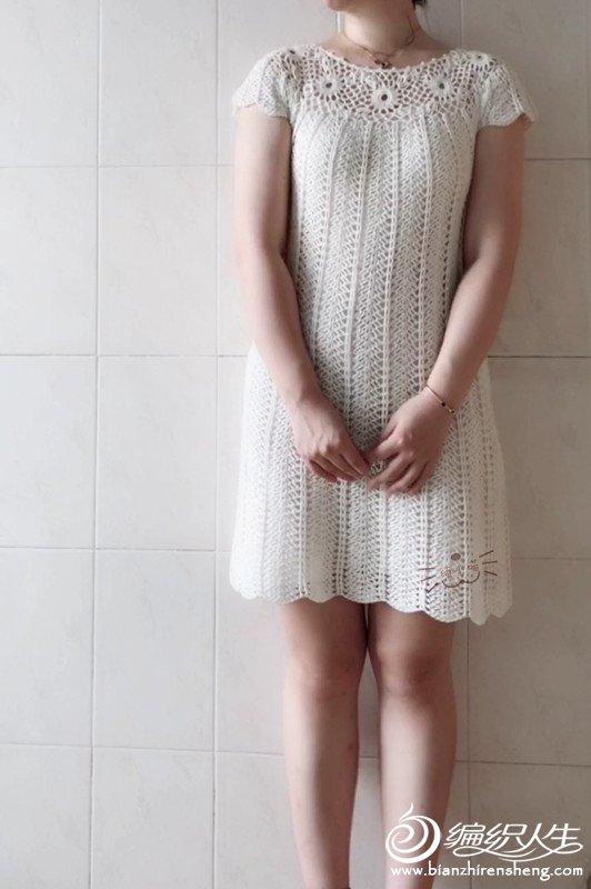 钩针小白裙