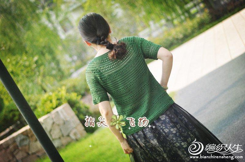 女士钩针短袖圆肩衣