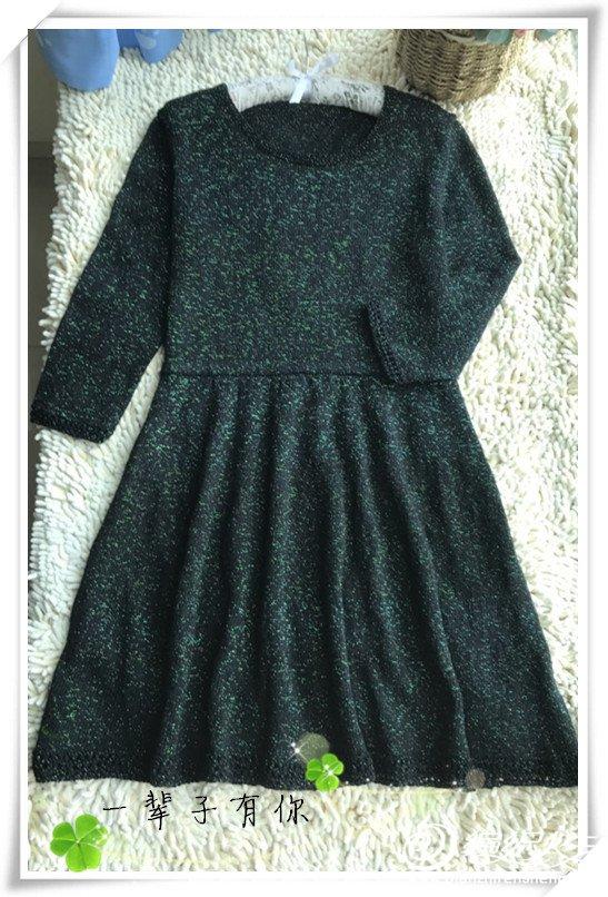 女士棒针长袖连衣裙