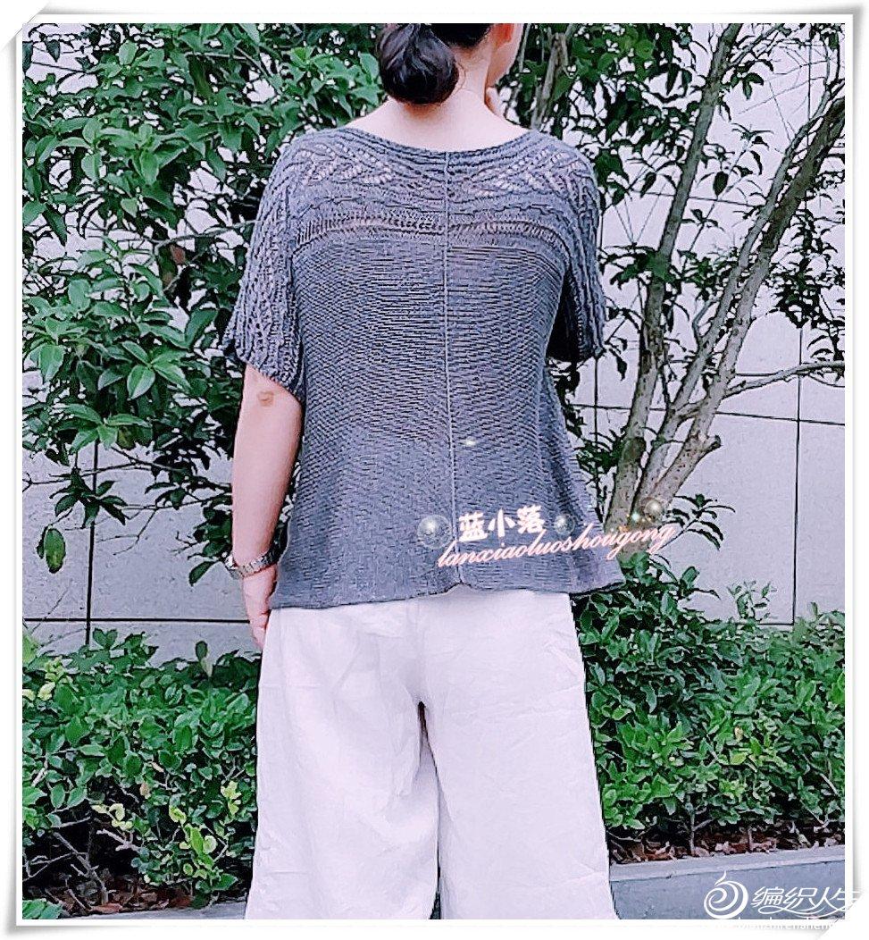 横织女士棒针短袖