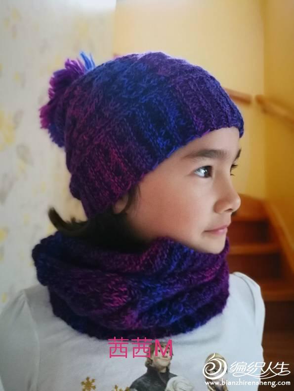 女童围巾帽子织法