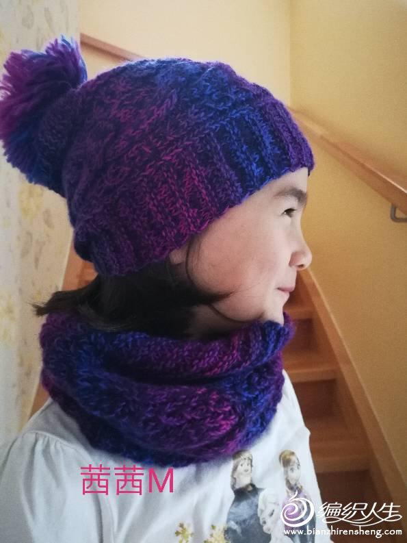 手工编织围脖帽子