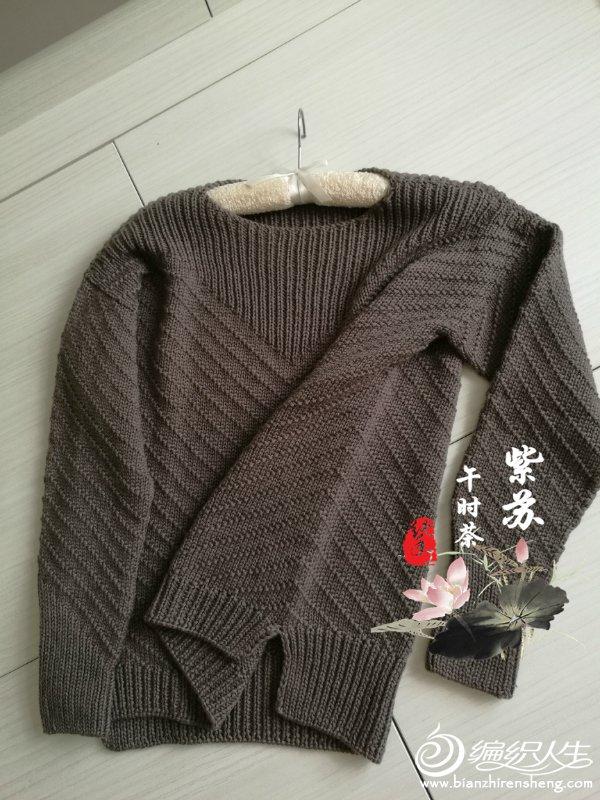 简洁大方从上往下织女士棒针套头毛衣-编织教程-编织