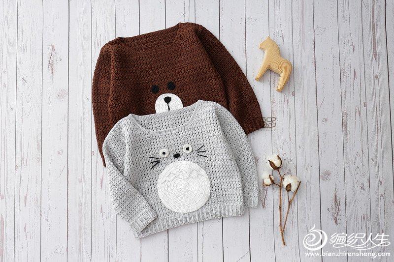 龙猫款儿童钩衣