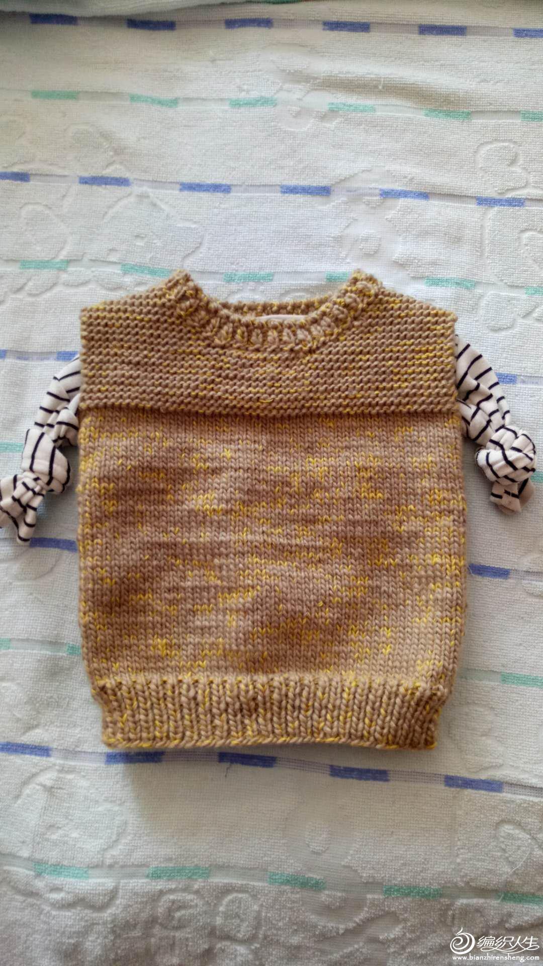粗针织宝宝背心