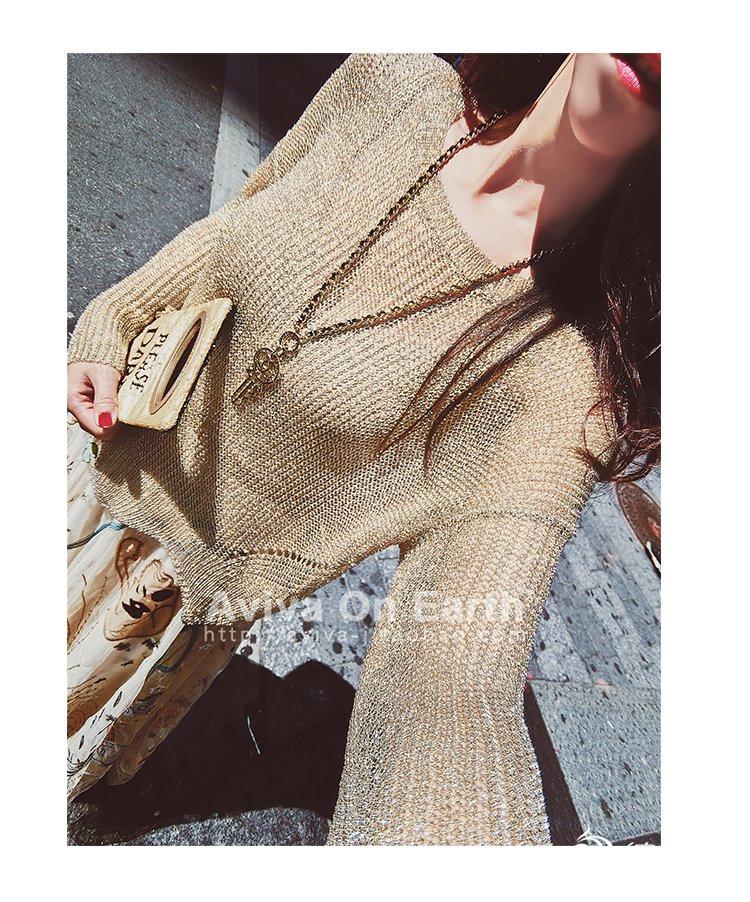 淘宝款女士棒针毛衣