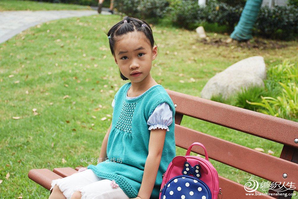 儿童棒针裙式上衣