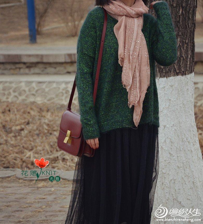 粗针织女士棒针外套毛衣