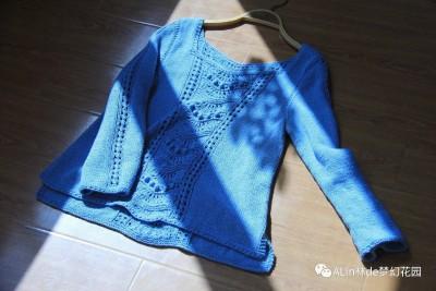 【A Lin林】茜茜--从上往下织休闲风套衫,织成长袖or背心,随你喜欢 - ysp1966 - 快乐心情的博客