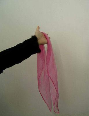 用丝巾做的玫瑰花