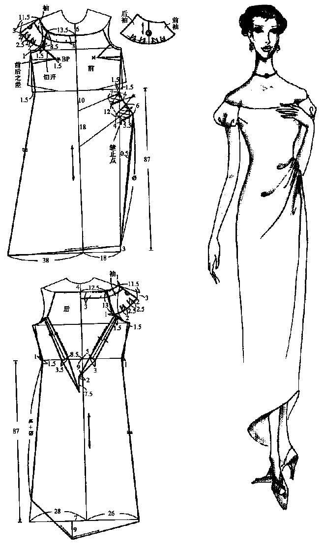 画旗袍的简笔画步骤