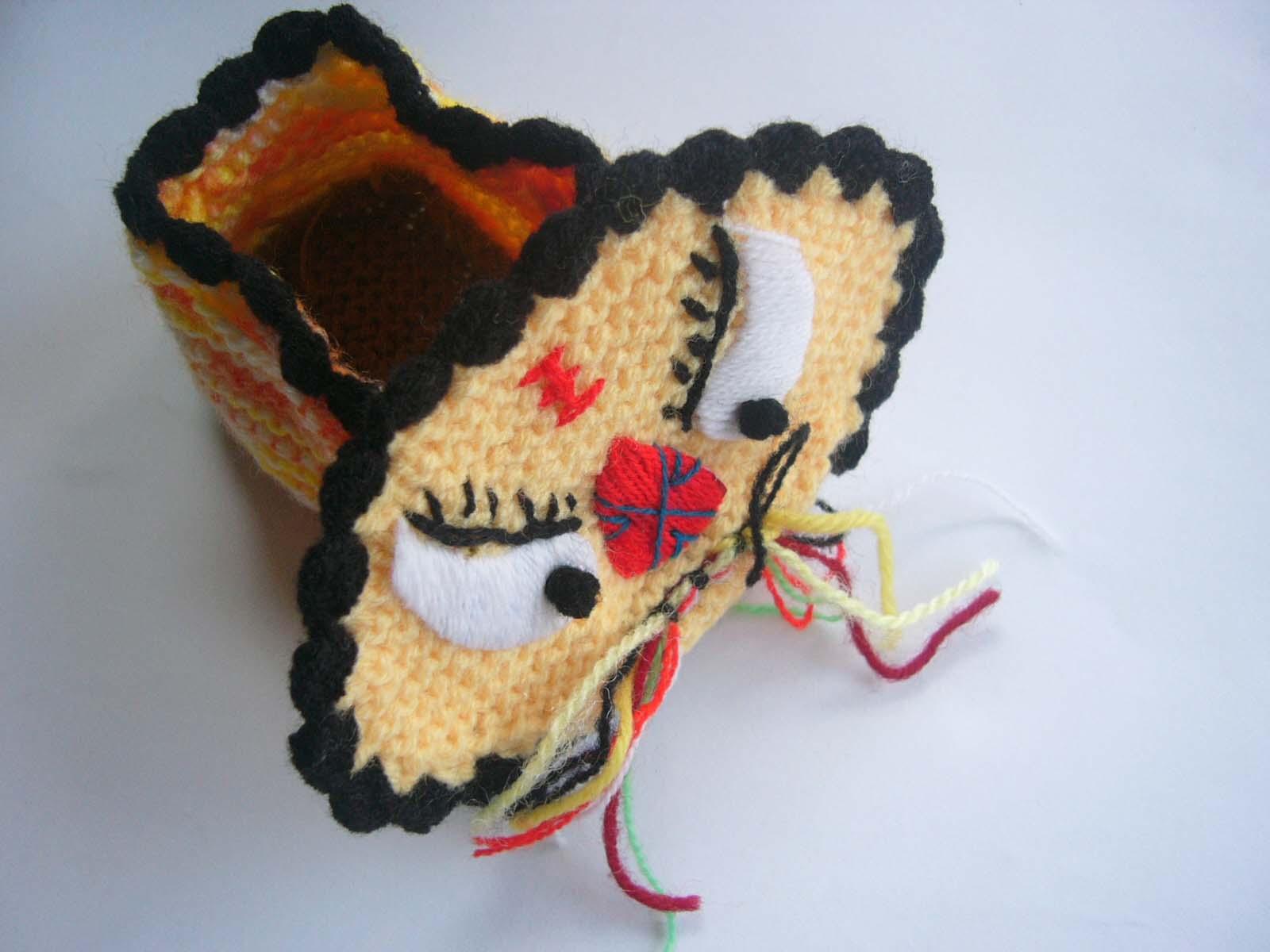 宝宝虎头鞋的编织