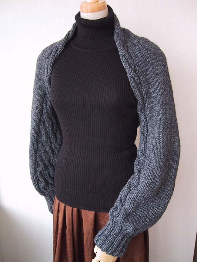 流行的带袖式披肩 - 壹一 - 壹一编织博客