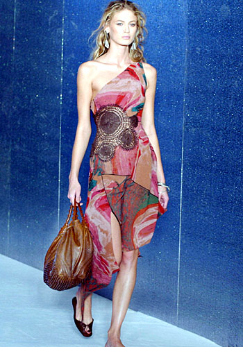 A Fendi dress with form-fitting bodice.