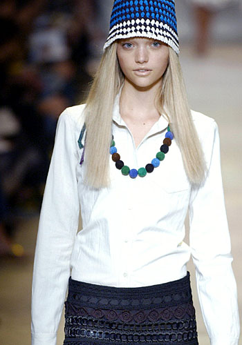 A Prada hat and necklace