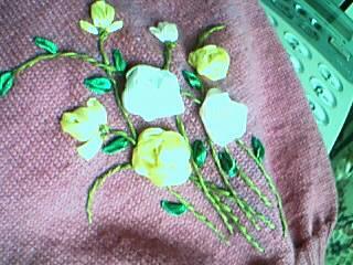 丝带绣的花