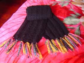 给自己织的围巾