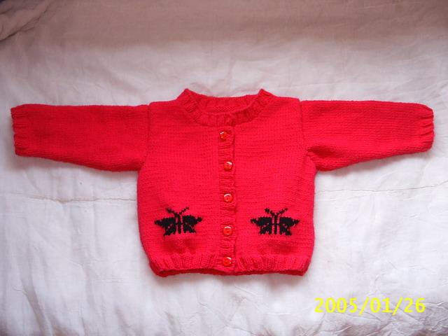 可爱的红毛衣