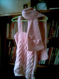 吊带背心及围巾