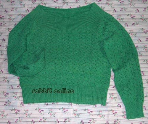 绿色大船领套衫