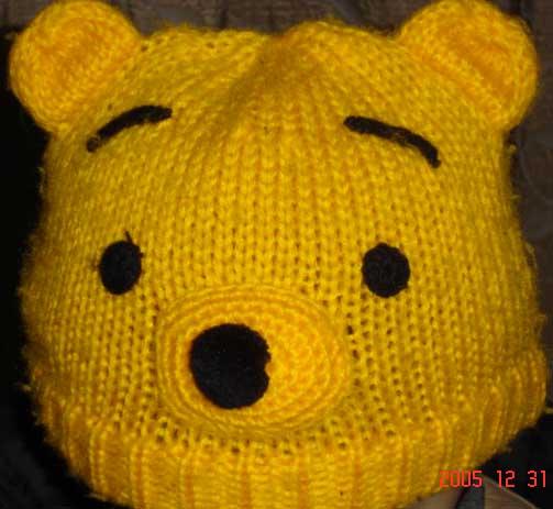 超可爱的维尼小熊帽子-应jm要求,织法已上传在第8页