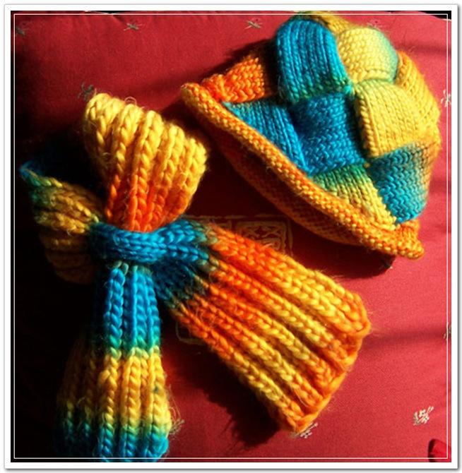 给宝宝的围巾手套