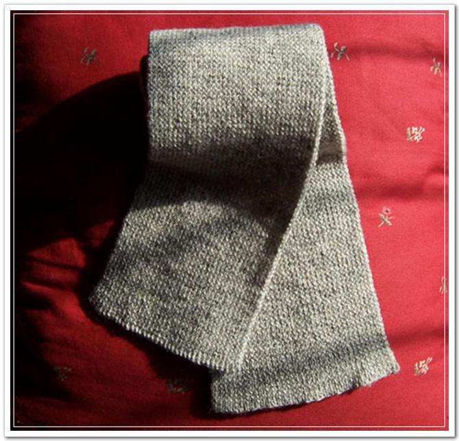 给老公的围巾