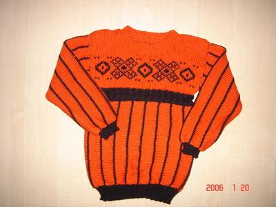 brier ,仿得不大象样啊,不知能不能穿。红橙海岛棉+黑色天丝羊毛绒,可惜了这些好线